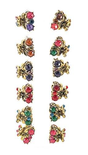 Yeshan Fruit Design Rhinestone Crystal