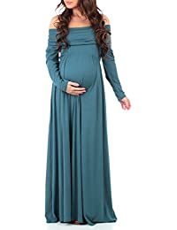 Womens Cowl Neck and over the shoulder Maternity Dress by...