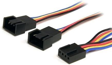 Cable alimentacion Divisor pwm Ventilador 4 Pines 0.30 Metros Multicolor