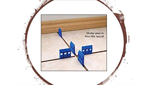 Handi-Shim HS14100BL Plastic Construction Shims/Spacers, 100 Pack,  1/4-Inch, Blue
