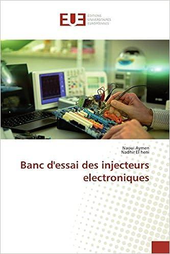 Banc Dessai Des Injecteurs Electroniques French Edition Naoui