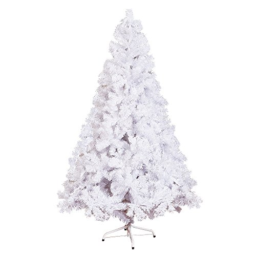 KARMAS PRODUCT 6 Ft High Christmas Tree 800 Tips Decorate Pine Tree With Metal Legs White With Anti-dust Bag by KARMAS PRODUCT (Image #1)
