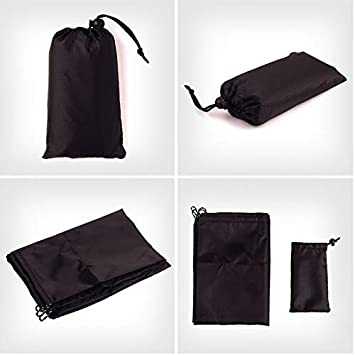 Black Gespout Picnic Blanket Portable Lightweight Waterproof Sandproof Pocket Beach Blanket Picnic Mat for Beach Picnic Travel Camping Festival
