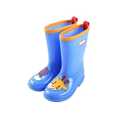 Zhuhaixmy Mädchen Jungen Kinder Anti-Rutsch Rainboots Regen Stiefel Children Gummi Wasserdicht Snow Rain Shoes Regen Schuhe Blue