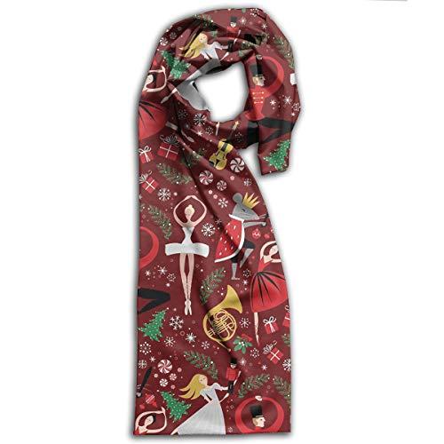 Nutcracker Ballet Red Med Long Scarfs Womens Stylish Shawl Wrap Large Blanket For Fall & Winter 11