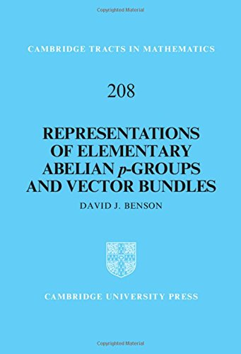 Representations of Elementary Abelian p-Groups and Vector Bundles (Cambridge Tracts in Mathematics)
