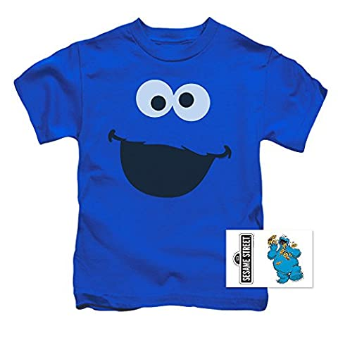 Toddler Sesame Street Cookie Monster T Shirt & Exclusive Stickers (3T) (Movie Cool Dry Place)