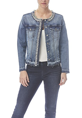 rk Collarless Denim Jean Jacket (Trim Jean Jacket)