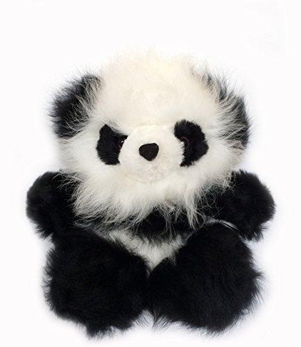 Pure Baby Wool Natura (Inca Fashions Baby Alpaca Fur Sitting Panda Bear - 6 inches Tall - Hand Made Black & White - Each Panda is Unique)