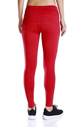 Besporter mujeres Fitness pantalones deportivos Leggings Stretch Athletic pantalones de yoga rojo