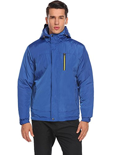 Zeagoo Men's Winter Thicken Cotton Coat Lightweight Zippered Windbreaker Jacket
