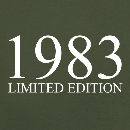 1983 Limierte Auflage / Limited Edition - 34. Geburtstag - Herren T-Shirt - Olivgrün - XL