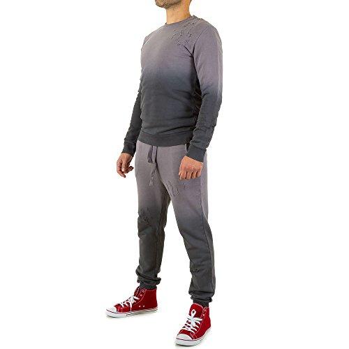 Zweiteiler Freizeit Anzug Für Herren , Grau In Gr. M bei Ital-Design