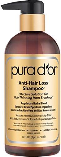 销售第一!拯救发际线!Pura d'or 优质原料有机防脱发生发洗发水
