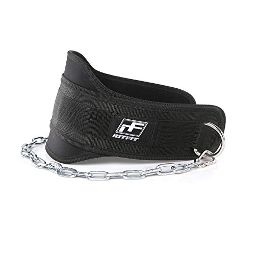 - RitFit Upgraded Premium 7.5'' Dip Belt with 38'' Reinforced Chain for Weight Lifting, Tricep Dips, Chins + Weighted Pull Ups, Black, Maximize Your Weightlifting & Bodybuilding Workouts