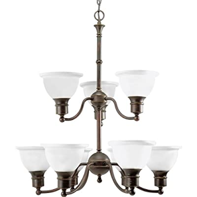 Progress Lighting Light Two-Tier Madison Reversible Chandelier