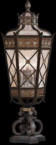 Fine Art Lamps 403983, Chateau Outdoor Post Lighting, 300 Total Watts, Patina