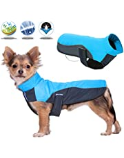BESAZW Dog Jacket Warm Windproof Waterproof Reversible Dog Coat for Cold Weather Dog Jacket for Small Medium Large Dogs,Blue M