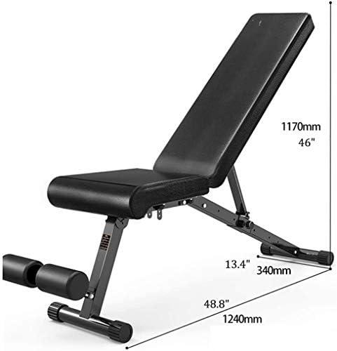 家庭用ダンベルベンチ フィットネス椅子のための家庭用ベンチ折りたたみヘビーデューティー、折りたたみダンベルスツール、フルボディワークアウトのためのベンチでダンベルフィットネススツールシット付きの調整可能スツール、ブラック