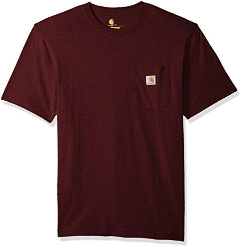 Carhartt Mens Workwear Short Sleeve T Shirt In Original Fit K87  Port Heather  2X Large