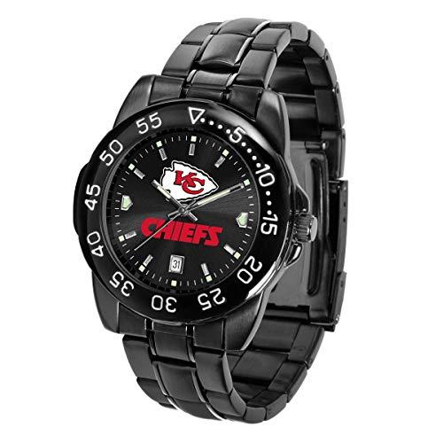 Mens Watch Sport Nfl (Game Time NFL Kansas City Chiefs Mens FantomWrist Watch, AnoChrome Black, One Size)