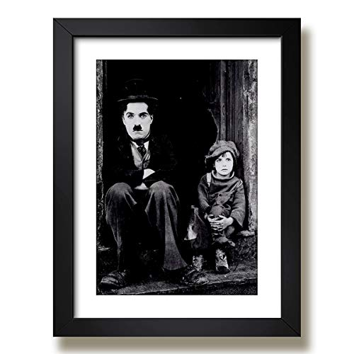 Quadro Charlie Chaplin Filme The Kid Cinema Decorativo Sala Paspatur Pronto para Pendurar