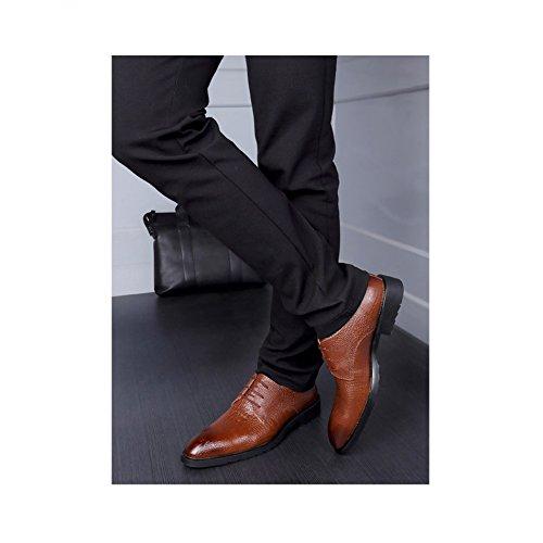 Uomo Vestito Scarpe Modello Stringate Uomo Uomo In Da Pelle Scarpe Di Da Scarpe Nuovi Moda pelle Coccodrillo black Da D'affari In YXLONG Di aqHUda