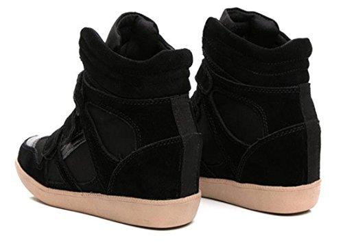 Couleur Velcro Compensees Top Chaussures Sorts Velcro Sport Accrue Haute Chaussures Dans Xqp8xwx4