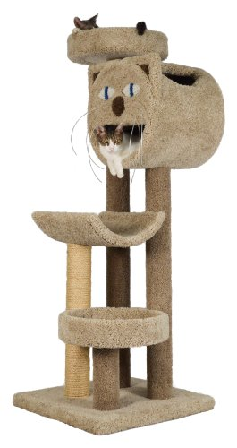 """Molly and Friends """"Whisker's Way"""" Premium Handmade 4-Tier Cat Tree with Sisal, Model 2832, Beige"""