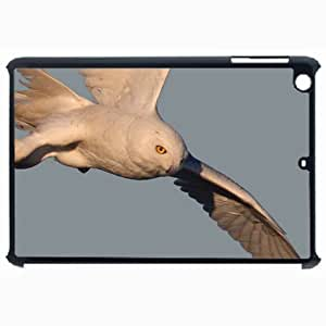Customized Back Cover Case For iPad Air 5 Hardshell Case, Black Back Cover Design Snowy Owl Personalized Unique Case For iPad Air 5