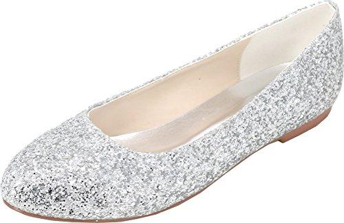 EU 36 Sandales Find Femme 5 Argenté Compensées Nice Silver BwP4FqH