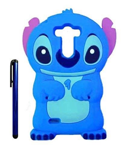 G3 Case, Cute Cartoon 3D Lilo Stitch Movable Ear Flip Soft Silicione Case Cover for LG G3 (Blue)