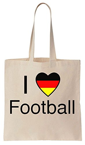 I Love Football Germany Deutschland 2016 Sacchetto di cotone tela di canapa