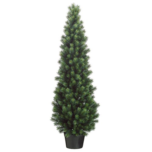 Artificial Topiary Tree w/Pot -Green (pack of 2) (Pinecone Topiary)