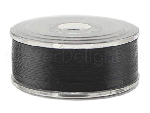 Sideless Bobbins - 36 Pack - CleverDelights Black Prewound Bobbins - Size M Bobbins - Plastic Sided - 1