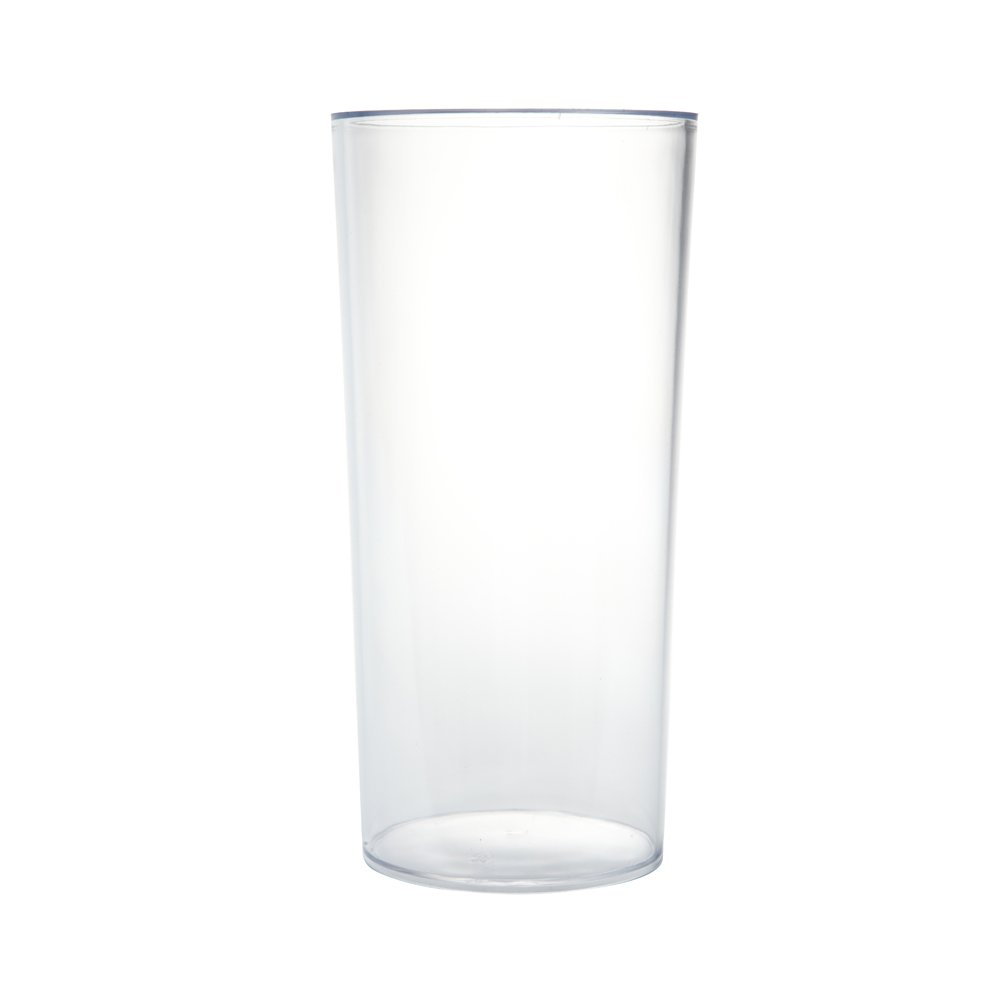 Clear Acrylic Cylinder Vase Hard Wearing Lightweight Durable Plastic 25cm High by Smithers Oasis 4122