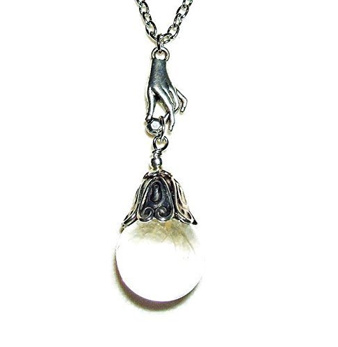 Amazon crystal ball necklace fortune teller pendant silver pltd crystal ball necklace fortune teller pendant silver pltd gypsy hand aloadofball Images