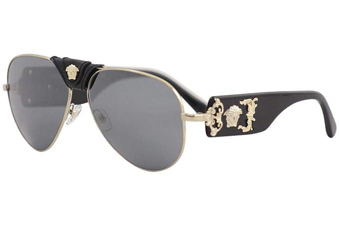 Versace 0VE2150Q Gafas de sol, Pale Gold, 62 para Hombre ...