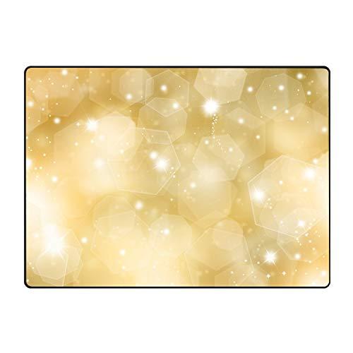 stahhn Collection Rectangular Welcome Doormat (Machine-Washable/Non-Slip) Dream of Gold Indoor Rug