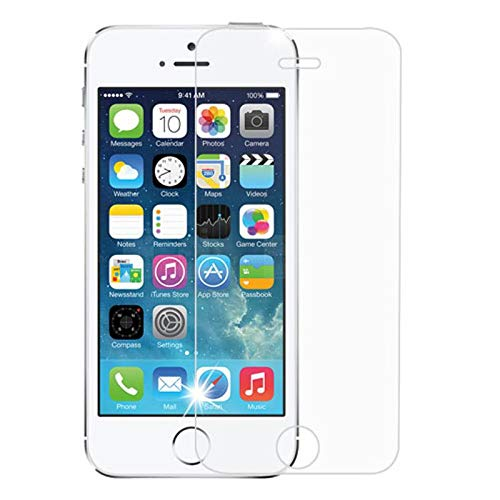 Insten Clear Tempered Glass LCD Screen Protector Shield Guard Film Compatible with Apple iPhone 5/5C/5S/SE