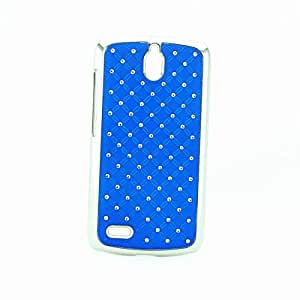 For Huawei G610 C8815 Case, IVY Blue - Electroplating Stars Bling Hard Case Cover Skin For Huawei G610 C8815
