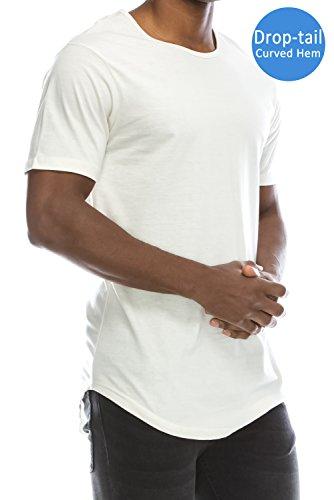 Hipster Elong Longline Crewneck T shirt product image
