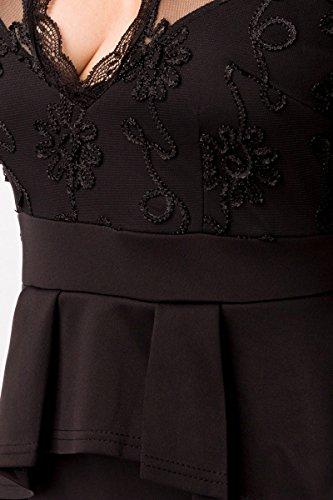 Mujer Fashion Glamour Angies Para Vestido Negro qdY4x5Iaw5