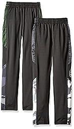 CB Sports Little Boys\' 2 Tricot Performance Sport Pant, Pack Black/Lime/Black/White, 7