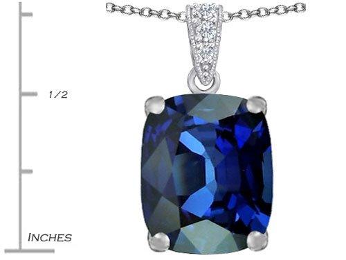 Created Alexandrite Zirconia Round Pendant .925 Sterling Silver Rhodium Finish