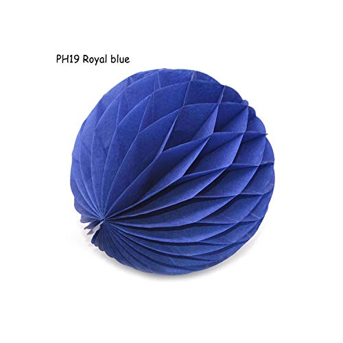 Party Decoration 5/10/15Cm 1Pcs 31 Color Decorative Flower Paper Lantern Honeycomb Ball for Wedding Party Kid Birthday Decoration Babyshower,Ph19 Royal Blue,5Cm]()