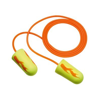 3M E-A-Rsoft Yellow Neons Blasts Corded Earplugs in Polybag,100 pr/box,10 boxes/case, 311-1257 by 3M