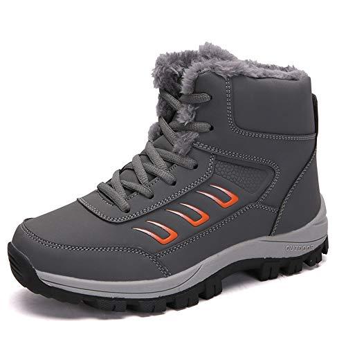 De Gris Pour Chaussures Bozevon Neige Femmes Sports Bottes Coton Randonnée D'hiver L'extérieur Épaisses 5wBqHU