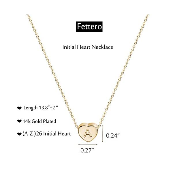 Tiny Gold Initial Heart Necklace-14K Gold Filled Handmade Dainty Personalized Letter Heart Choker Necklace Gift for Women Kids Child Necklace Jewelry