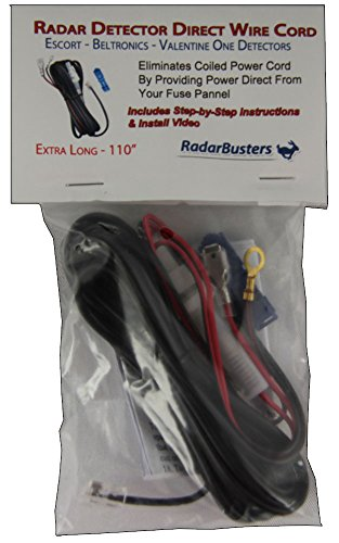 Best Prices! Direct Wire Cord for Escort, Beltronics & Valentine One Radar Detectors - 110 Long - I...